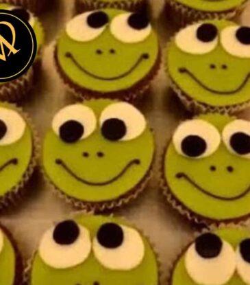 Schoko Frosch Cupcakes