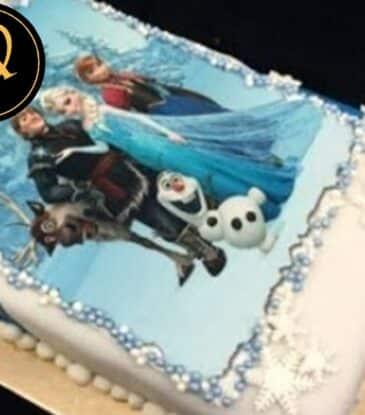 Frozen Eiskönigin Foto Motivtorte