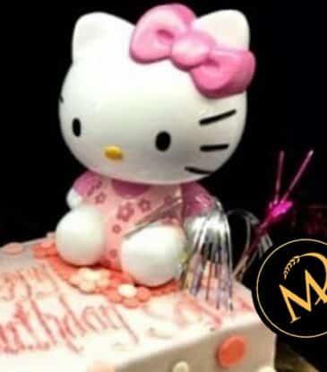 Hello Kitty Torte mit Spardose