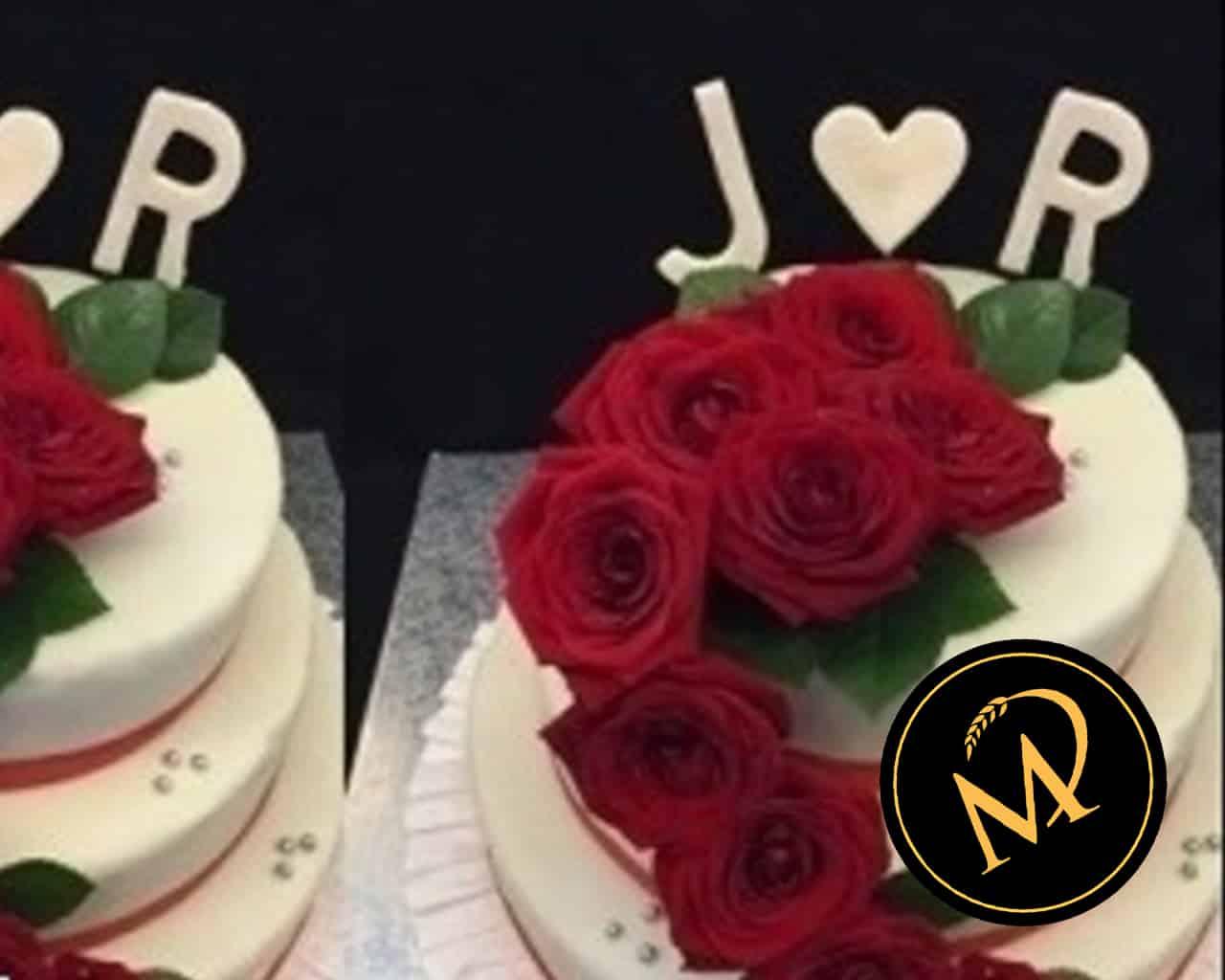 Hochzeitstorte mit echten Rosen - Rezept Marcel Paa