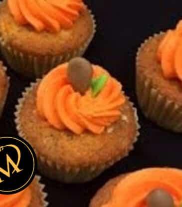 Kürbis Cupcakes zu Halloween