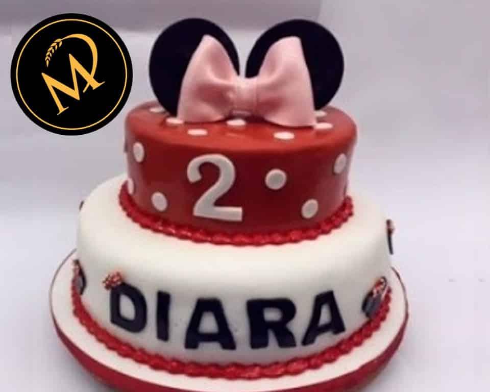 2-stöckige Minnie Mouse Torte - Rezept Marcel Paa
