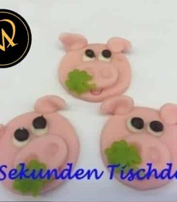 Glücks-Schweine Tischdeko zu Silvester