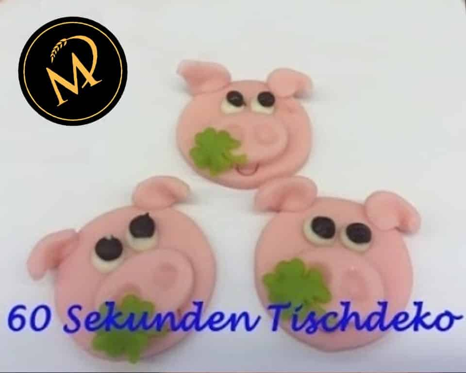 Glücks-Schweine Tischdeko zu Silvester - Rezept Marcel Paa