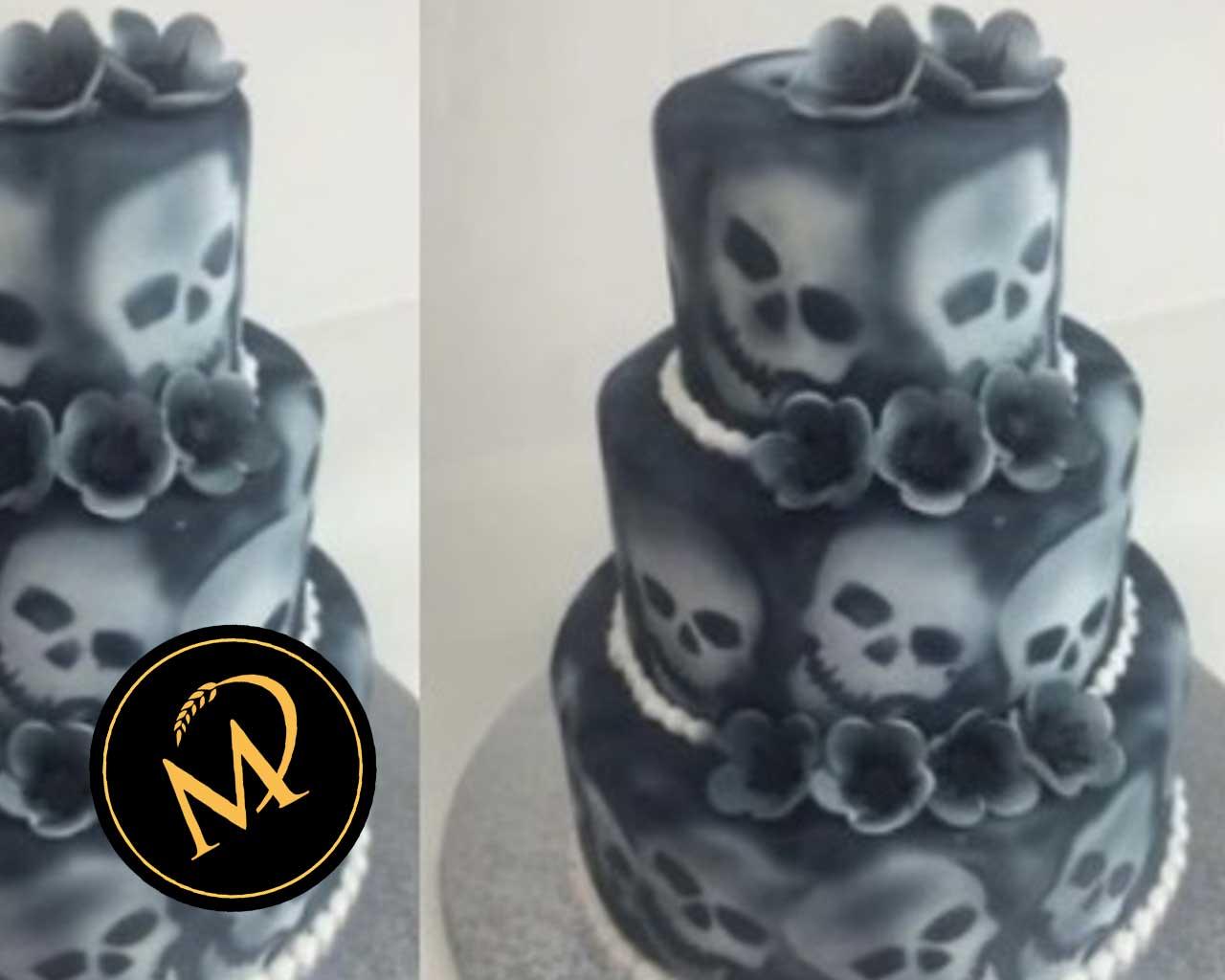3-stöckige Totenkopf Torte - Skull Cake - Rezept Marcel Paa