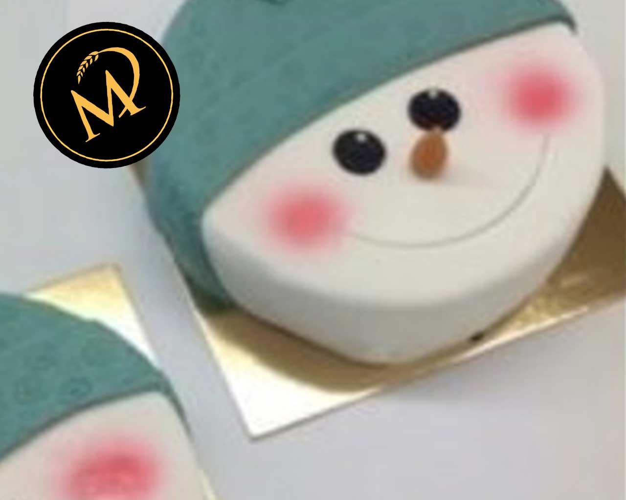 Weihnachts Schneemann Motiv Torte - Rezept Marcel Paa