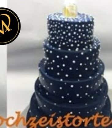 5-stöckige moderne Hochzeits-Torte