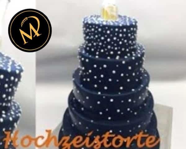 5-stöckige moderne Hochzeits-Torte - Rezept Marcel Paa