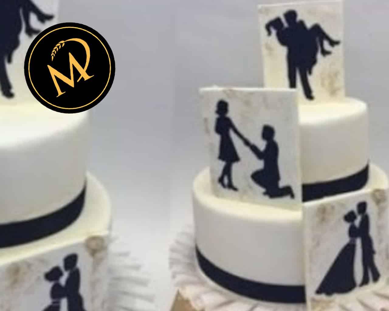 Hochzeitstorte mit Love Story - Rezept Marcel Paa