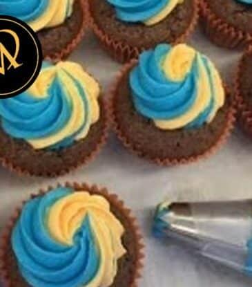 Buttercreme für Cupcakes zweifarbig