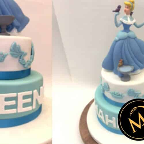 2-stöckige Cinderella Motivtorte - Rezept Marcel Paa