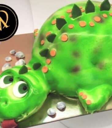 3D Dinosaurier Airbrush Torte