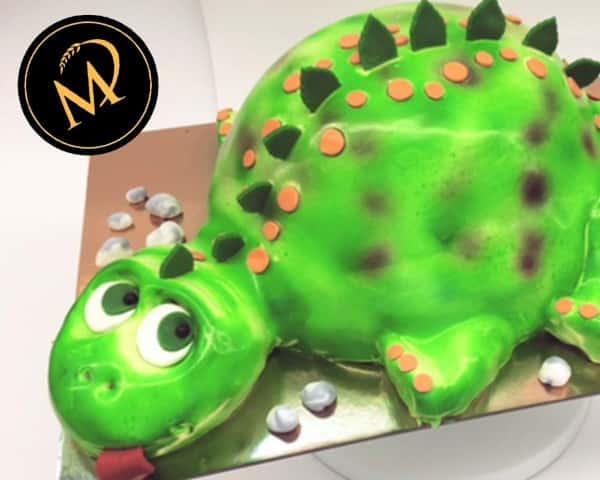 3D Dinosaurier Airbrush Torte - Rezept Marcel Paa