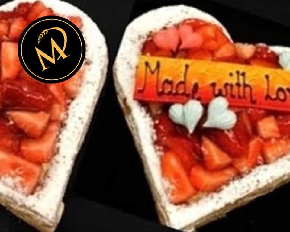 Blätterteig Herztorte zum Valentinstag - Rezept Marcel Paa