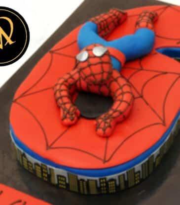 Spiderman Zahlen Motivtorte