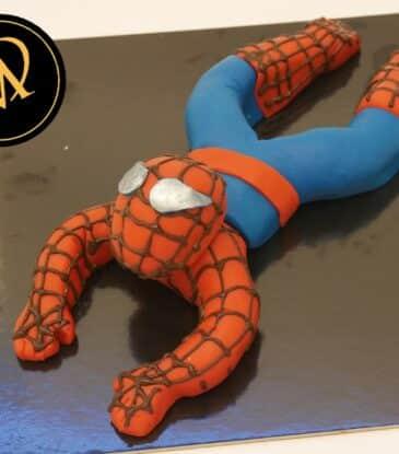 Spiderman aus Fondant modellieren