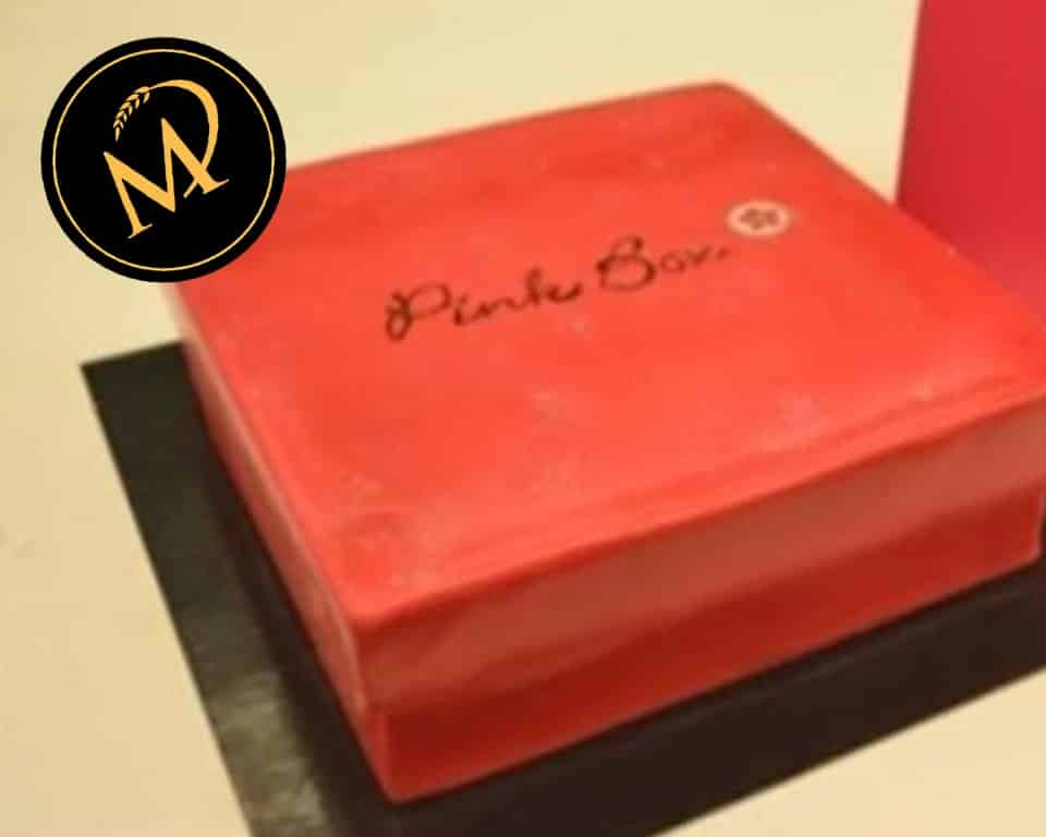 Geschenkbox Torte - Pink Box Motivtorte - Rezept Marcel Paa