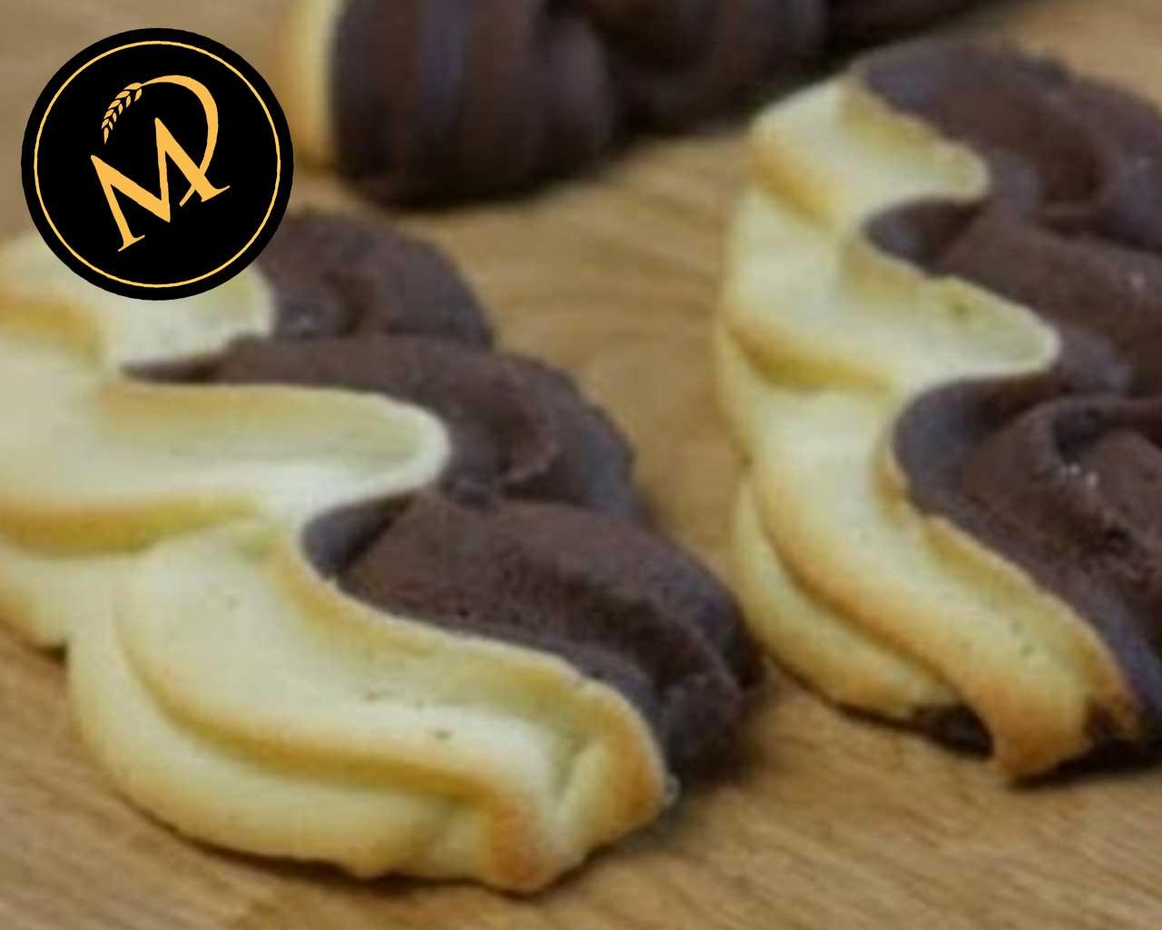 Zweifarbige Duowellen Kekse - Rezept Marcel Paa