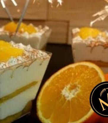 Orangen Tiramisu zu Silvester