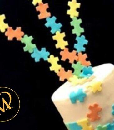 Puzzle Motivtorte – einfach bunt