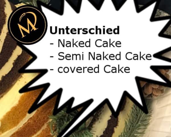 Unterschied Cake Naked Cake covered cake - Rezept Marcel Paa