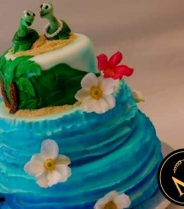 3-stöckige Hawaii Hochzeitstorte