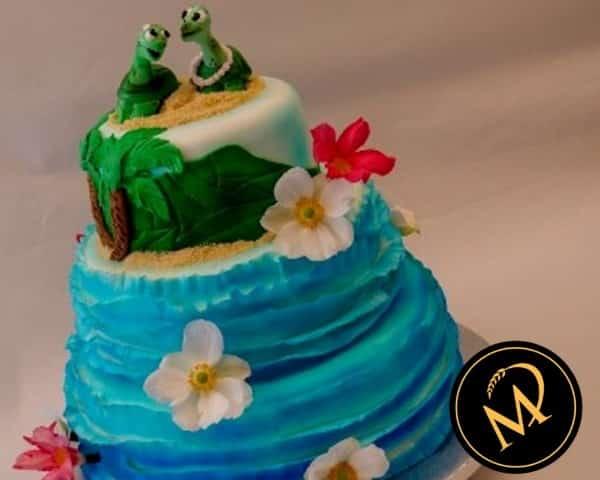 3-stöckige Hawaii Hochzeitstorte - Rezept Marcel Paa
