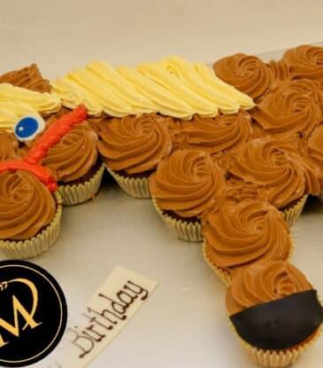 Cupcake Pferd zum Kindergeburtstag
