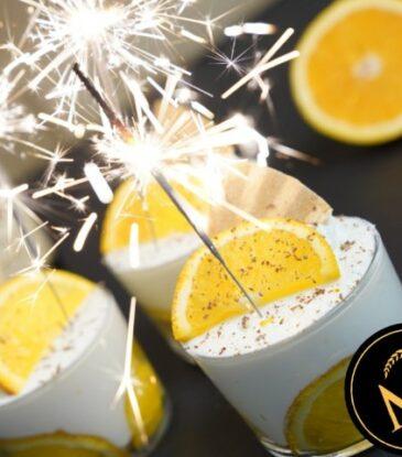 Orangen Champagner Creme
