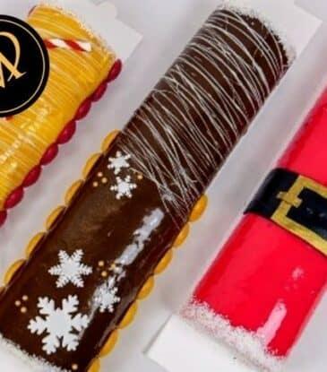 Weihnachts Biskuit Rouladen
