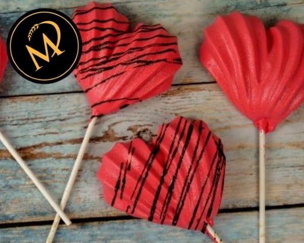 Meringue Pops zum Valentinstag - Rezept Marcel Paa