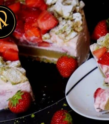 Erdbeeren Rhabarber Torte Knusperboden