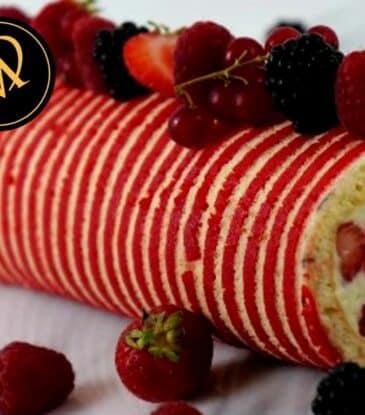 UrDinkel Biskuit Roulade mit Früchten