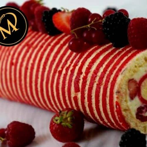 UrDinkel Biskuit Roulade mit Sommerfrüchten - Rezept Marcel Paa