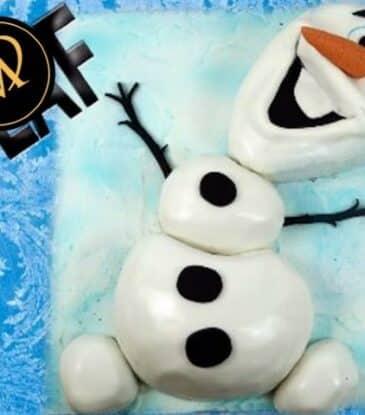 3D Olaf Schneemann Torte – Frozen