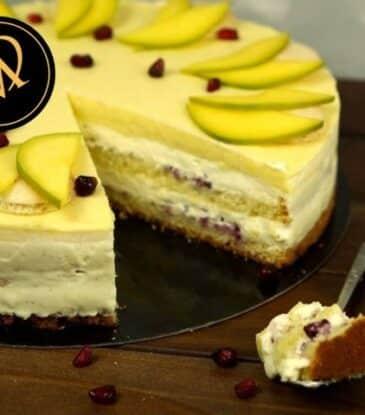 Vanille Mango Torte – einfach erfrischend