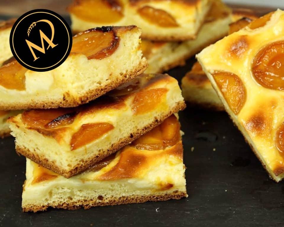 Hefeteig Aprikosen Blechkuchen - Rezept Marcel Paa