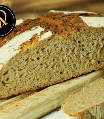 Roggen Brot mit Sauerteig