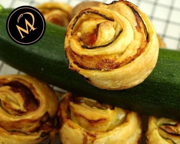 Zuccini Blätterteig Gemüse Rosen - Rezept Marcel Paa