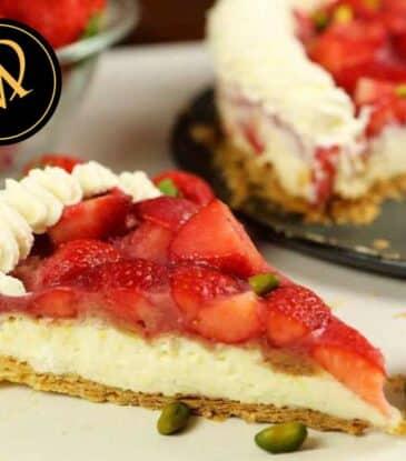 Erdbeeren Vanille Blätterteig Torte