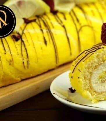 Zitronen Roulade – Biskuitrolle