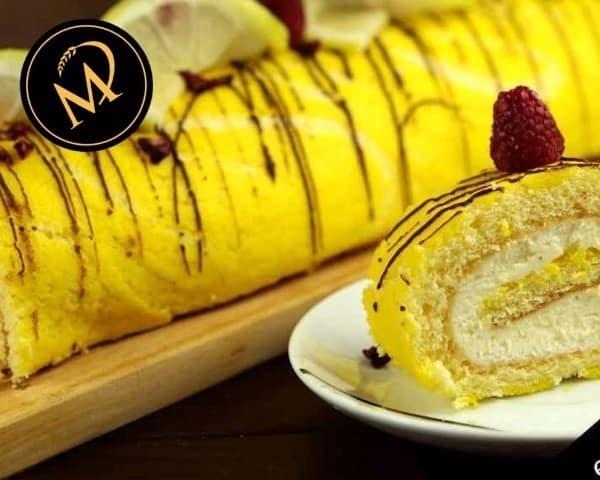 Zitronen Biskuitrolle - Rezept Marcel Paa
