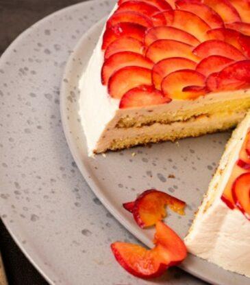 Pflaumen Torte – kalorienreduziert