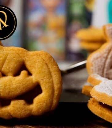 Kürbis Cookies zu Halloween