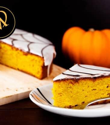Kürbis Kuchen zu Halloween